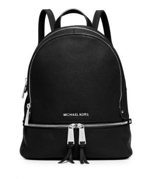 Рюкзак Michael Kors на серебряной молнии черный