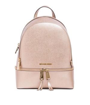 Рюкзак Michael Kors Rhea женский розовый металлик
