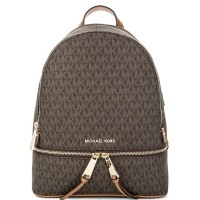 Рюкзак Michael Kors Rhea Paisley с надписями логотипа бренда коричневый